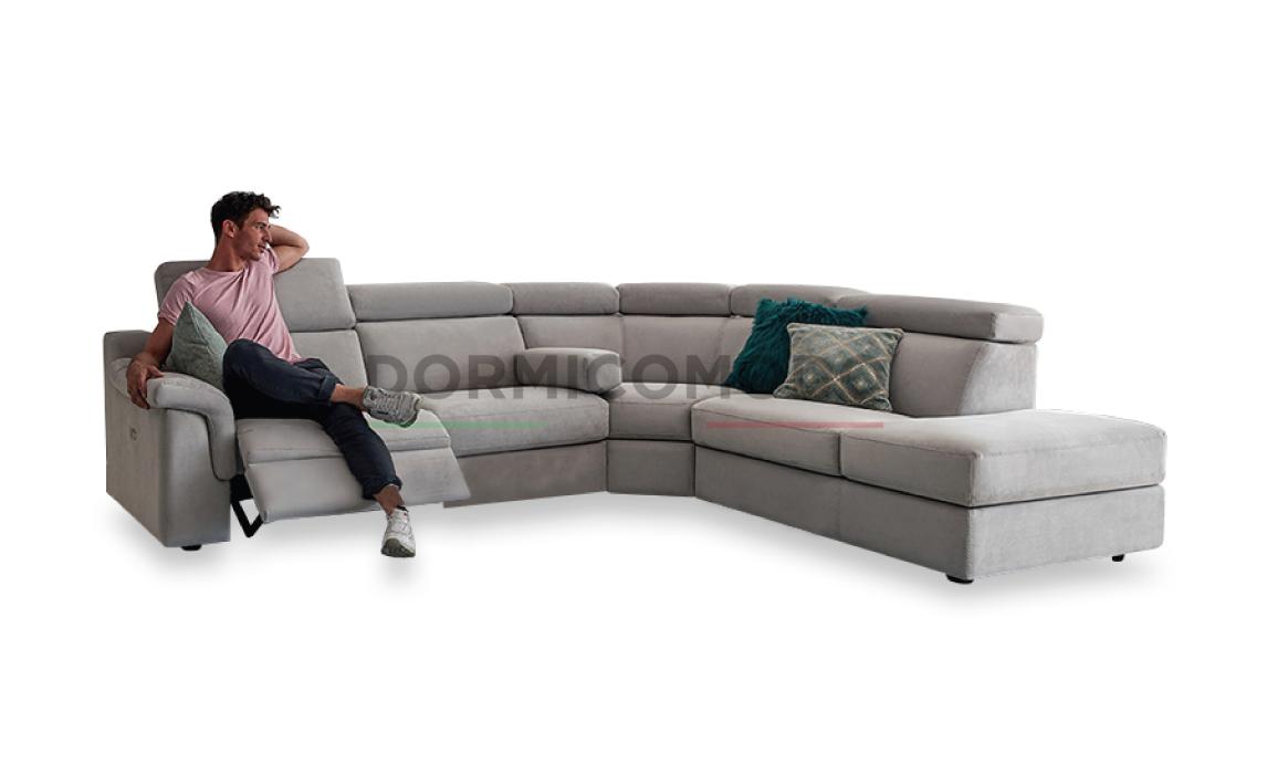Divani Con Meccanismo Relax divano angolare in pelle con meccanismo relax d7000ar