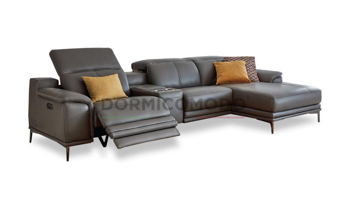 Divani Con Meccanismo Relax divano angolare con 2 meccanismi relax d7000ar
