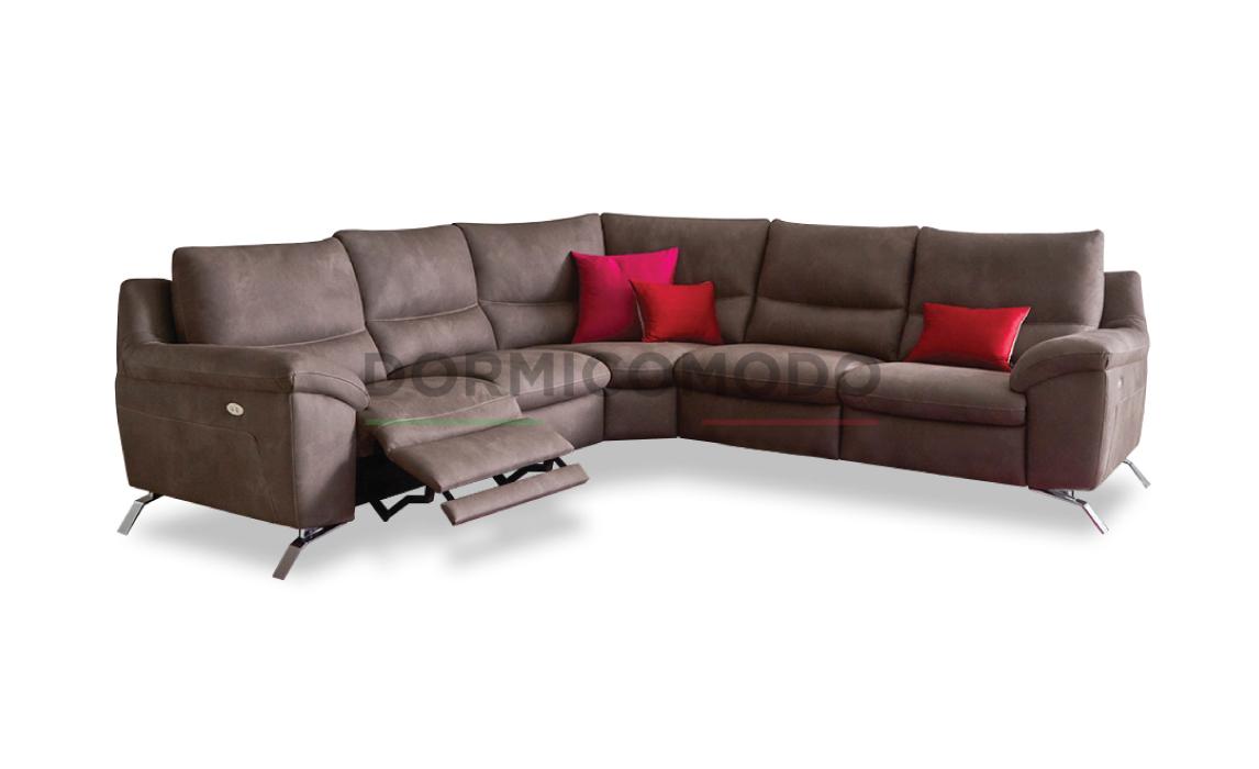 Divani Con Meccanismo Relax divano angolare con doppio meccanismo relax d7000ar