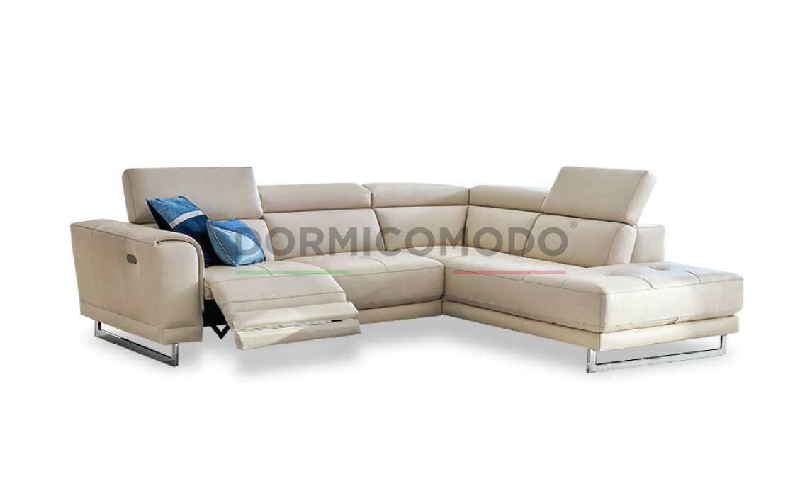 Divani Con Meccanismo Relax divano angolare penisola con movimento relax d7000ar