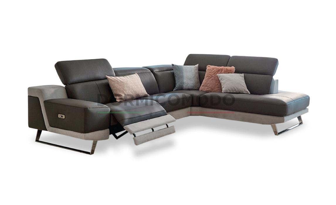 Divani Con Meccanismo Relax divano in pelle con meccanismo relax d4000dp