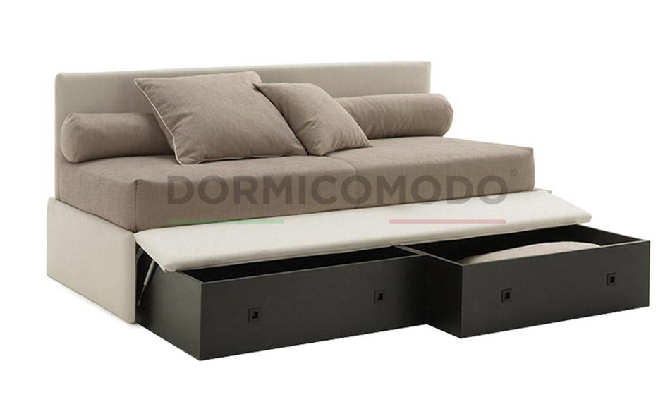 Divano letto con box contenitore - D3005AC || DORMICOMODO - Fabbrica ...