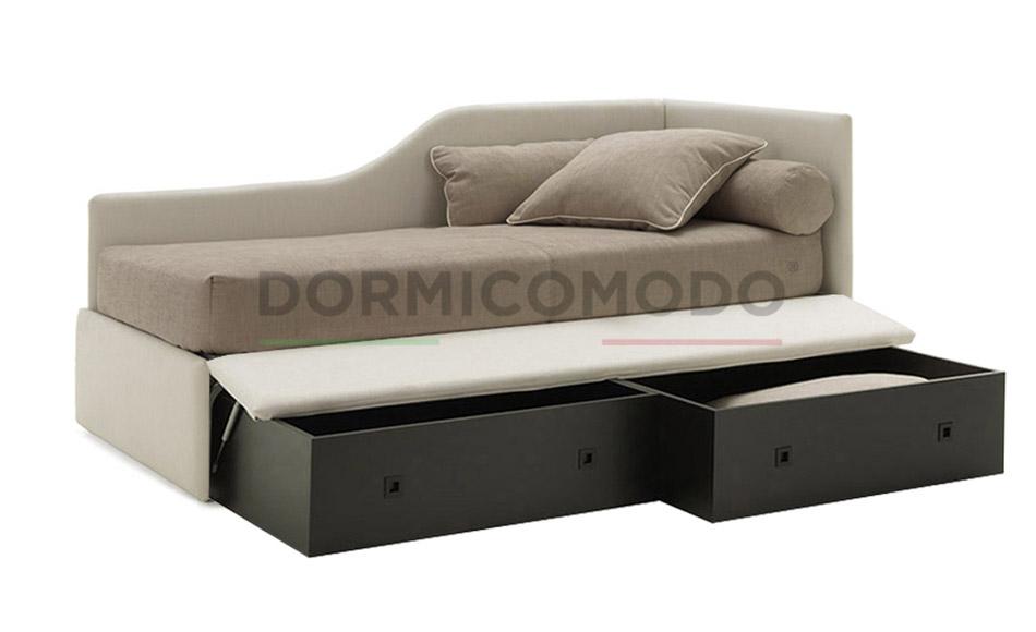 Divano letto singolo con box contenitore dormicomodo - Divano letto singolo con contenitore ...